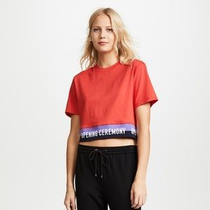 NWT OPENING CEREMONY Elastic Logo Crop Top S